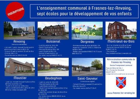 Enseignement communal : Inscriptions 2019-2020