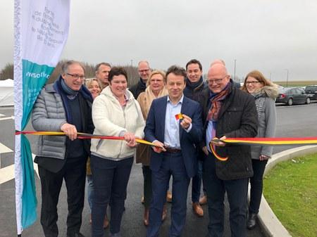 Inauguration du parking de covoiturage