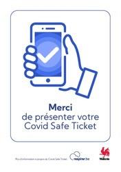 À partir du 01/11 le Covid Safe Ticket sera d'application