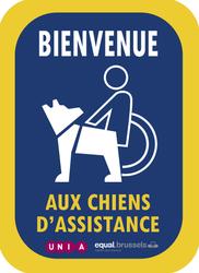 """Campagne """"Bienvenue aux chiens d'assistance"""""""