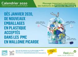 Collecte des déchets ménagers : Calendrier 2020