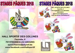 Des stages au Hall Sportif à Pâques