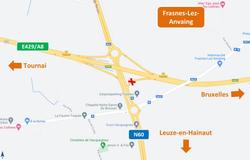 E429/A8 : la bretelle d'accès vers Bruxelles fermée