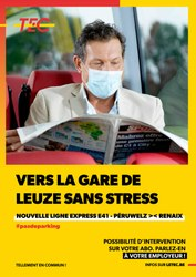 La nouvelle ligne Tec EXPRESS entre Péruwelz et Renaix passe par Frasnes !