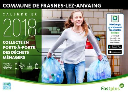 Le calendrier 2018 des collectes de déchets