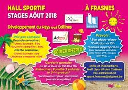 Les stages d'été du Hall Sportif