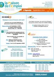 Maison de l'Emploi - l'Agenda du mois de septembre