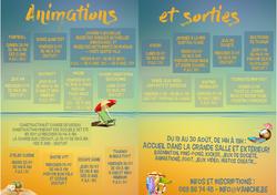 MJ Vaniche : Animations et sorties cet été