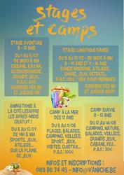 Stages et camps cet été à la MJ Vaniche