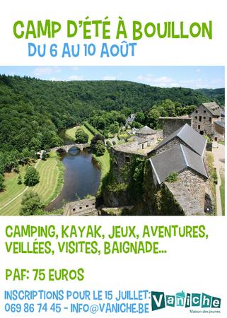 Camp d'été à Bouillon