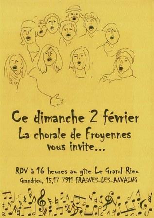 Chorale de Froyennes en représentation