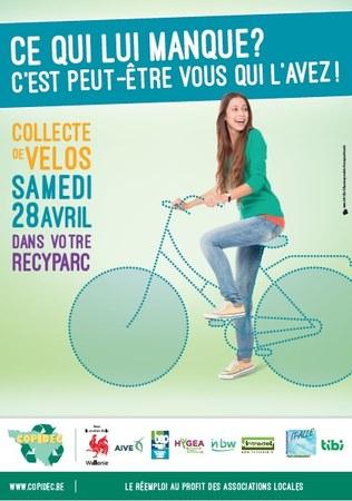 Collecte de vélo au recyparc