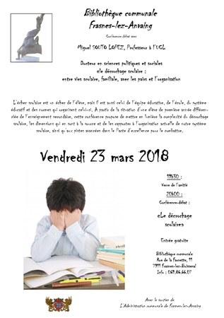 Conférence-débat sur le décrochage scolaire