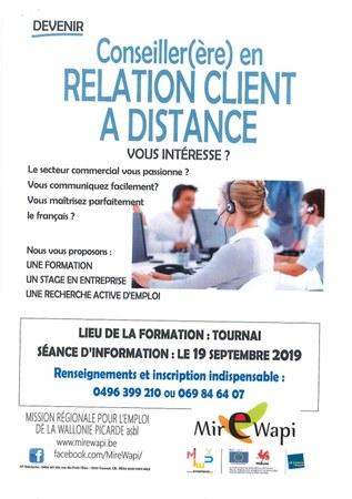 Formation : Conseiller(ère) en relation client à distance