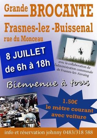 Grande brocante à Frasnes-lez-Buissenal