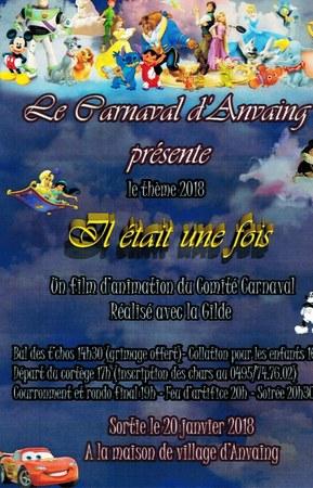 Le Carnaval d'Anvaing 2018