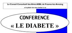 Le CCA propose une conférence sur le diabète