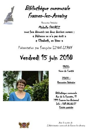 Rencontre littéraire avec Michelle Fourez