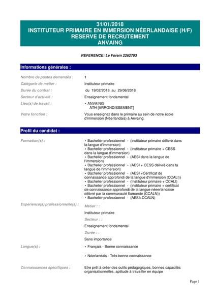 INSTITUTEUR PRIMAIRE EN IMMERSION NEERLANDAISE (H_F) RESERVE DE RECRUTEMENT [ANVAING]-page-001.jpg