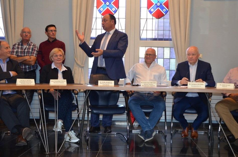 En présence des Ministres Borsus et Crucke