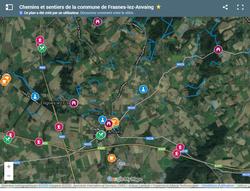 Nouveau à Frasnes-lez-Anvaing : une carte touristique en ligne