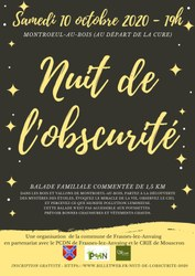Nuit de l'obscurité à Montroeul-au-Bois
