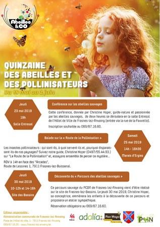 Quinzaine des abeilles et des pollinisateurs : De nombreuses activités