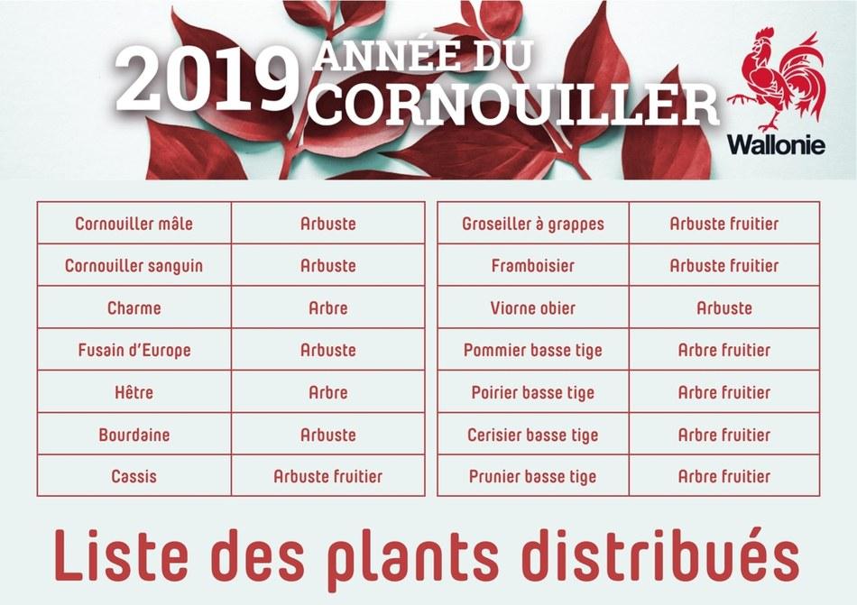 liste des plants