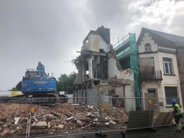 Démolition des bâtiments sur la Grand-Place