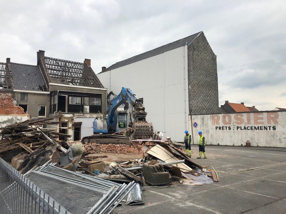 Démolition Grand-Place : 3 mai 2019