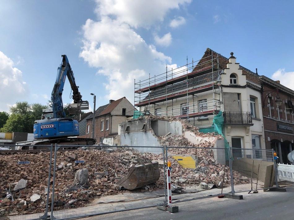 Démolition Grand-Place - Mercredi 29 mai 2019 - 11h