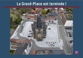 La Grand-Place de Frasnes-lez-Buissenal est terminée