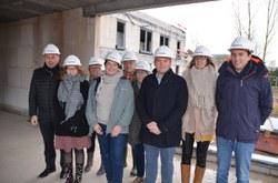 Visite de chantier de la résidence-services